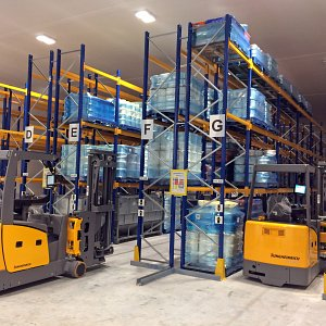 Completed Racking, Products and Narrow Aisle Forklifts